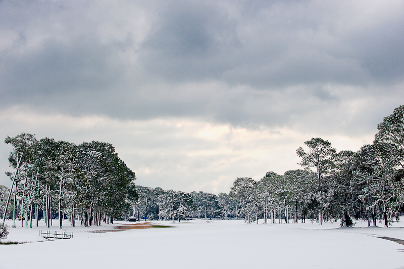 snow day on the 11th hole