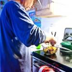 Karl in the kitchen