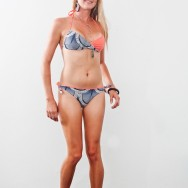 Bobi sporting an inside out bandeau bikini