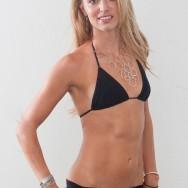 Jenn in a barely there black bikini